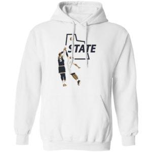 U State Sam Baseball White Hoodie